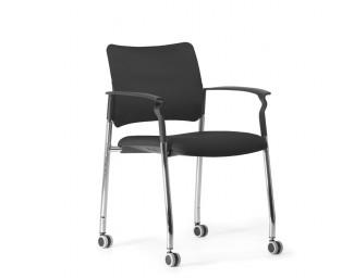 Кресло Pinko (Пинко) Черный на колесах подл