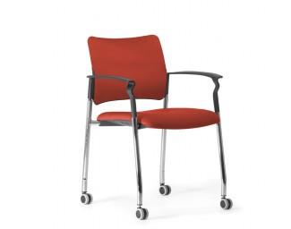 Кресло Pinko (Пинко) Красный на колесах подл