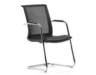 Кресло Skin (Скин) Черный на полозьях