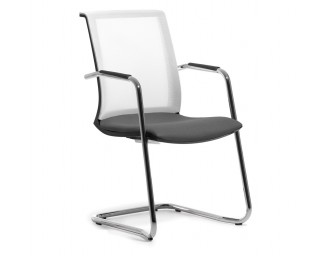 Кресло Skin (Скин) Серый на полозьях